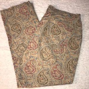 Lauren Ralph Lauren Tan Paisley Jeans 14W